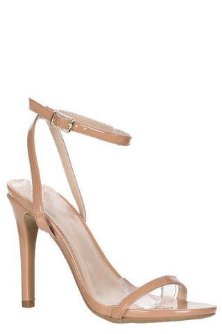 Taupe Patent Leather Heel