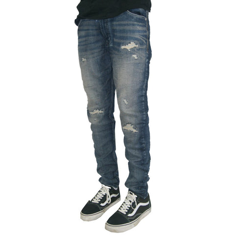 Azul Crushed Dobby Denim Pant