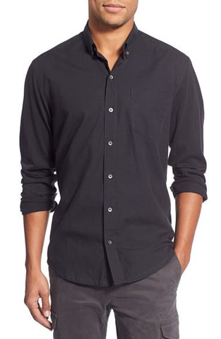 Black Solid Reworked Shirt