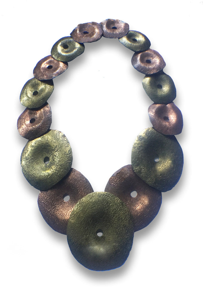Brutalist Sculpture | Graduated Necklace - GEORGE V COLLECTION, Jewelry