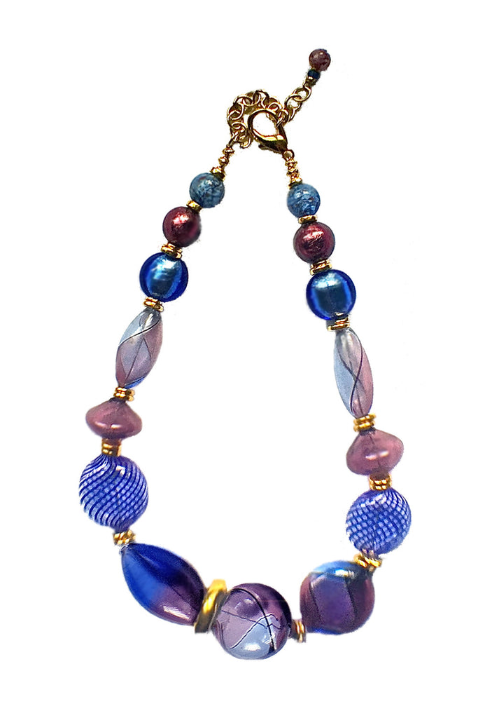 Venetian Blown Glass Necklace - GEORGE V COLLECTION, Jewelry