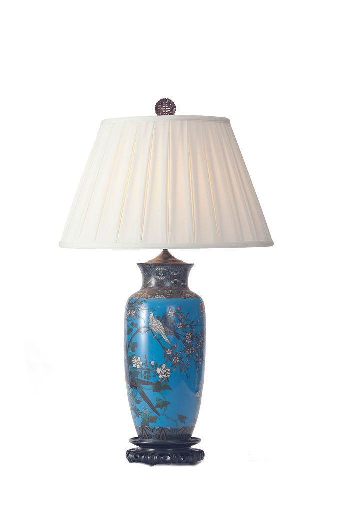 Large Scale Chinese Wire Cloisonné | Cerulean - GEORGE V COLLECTION, Table Lamp