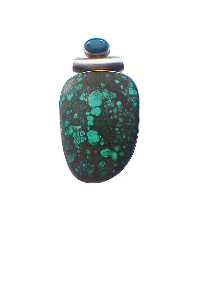 Chrysocolla Cabochon Pendant - GEORGE V COLLECTION, Jewelry