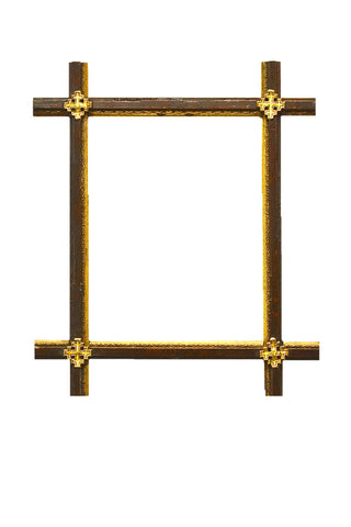 Elegant Crossed Frame | Gilt Medallions