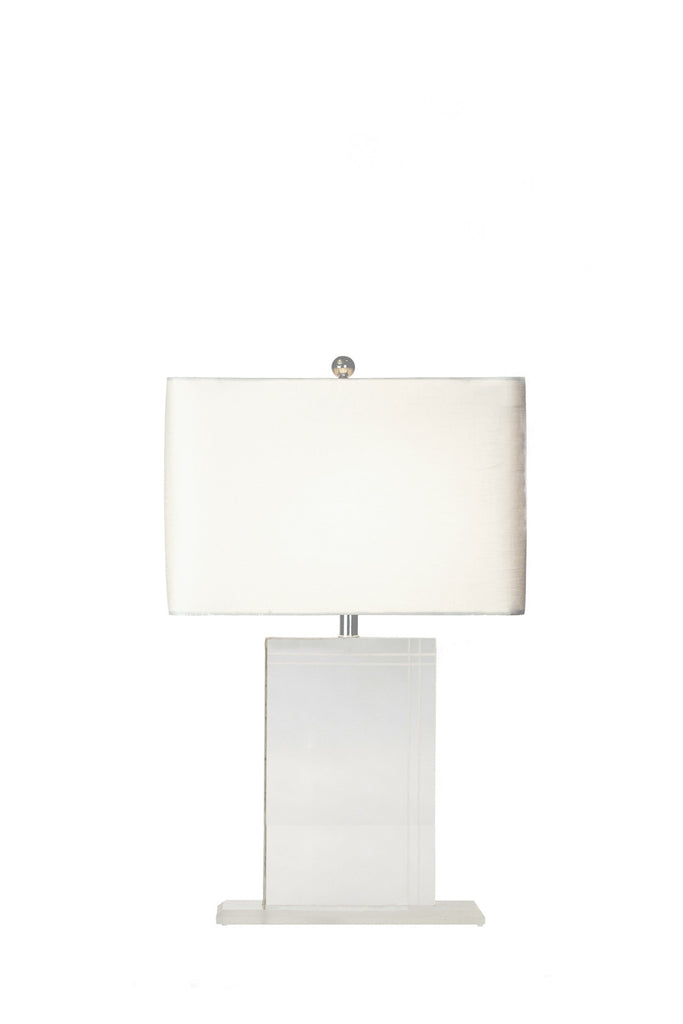 Rectangular Acrylic Lamp (PAIR) - GEORGE V COLLECTION, Table Lamp