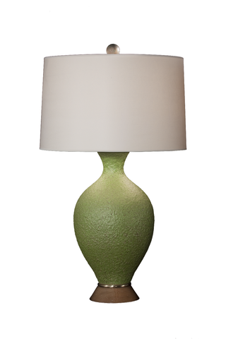 Volcanic Green Lamp … Early Marbro