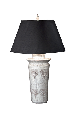 Handcrafted Sgraffito Italian Ceramic Lamp