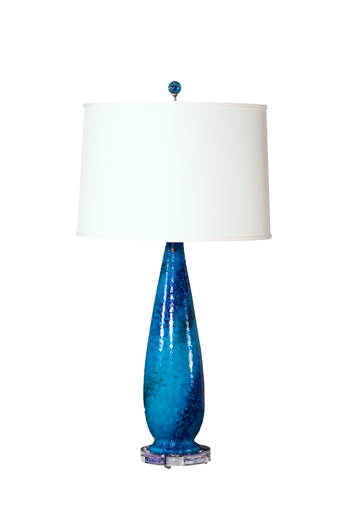 Mid-Century Marbro Turquoise Glaze Lamp - GEORGE V COLLECTION, Table Lamp