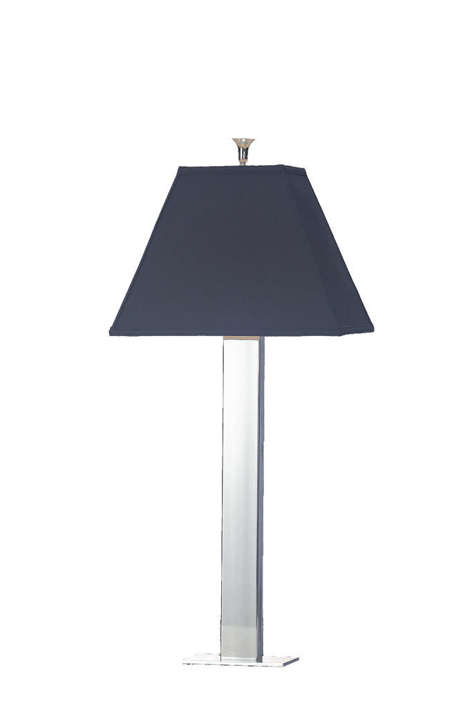 Tall Simple Chrome over Brass Table Lamp - GEORGE V COLLECTION, Table Lamp