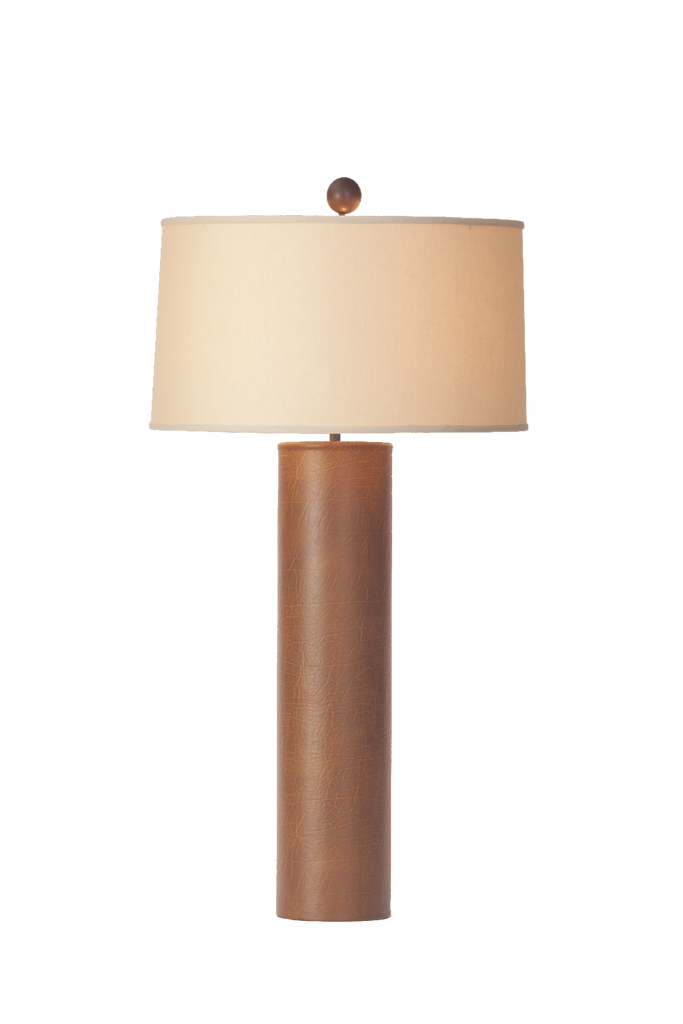 Tall Leather Nessen Lamp - GEORGE V COLLECTION, Table Lamp