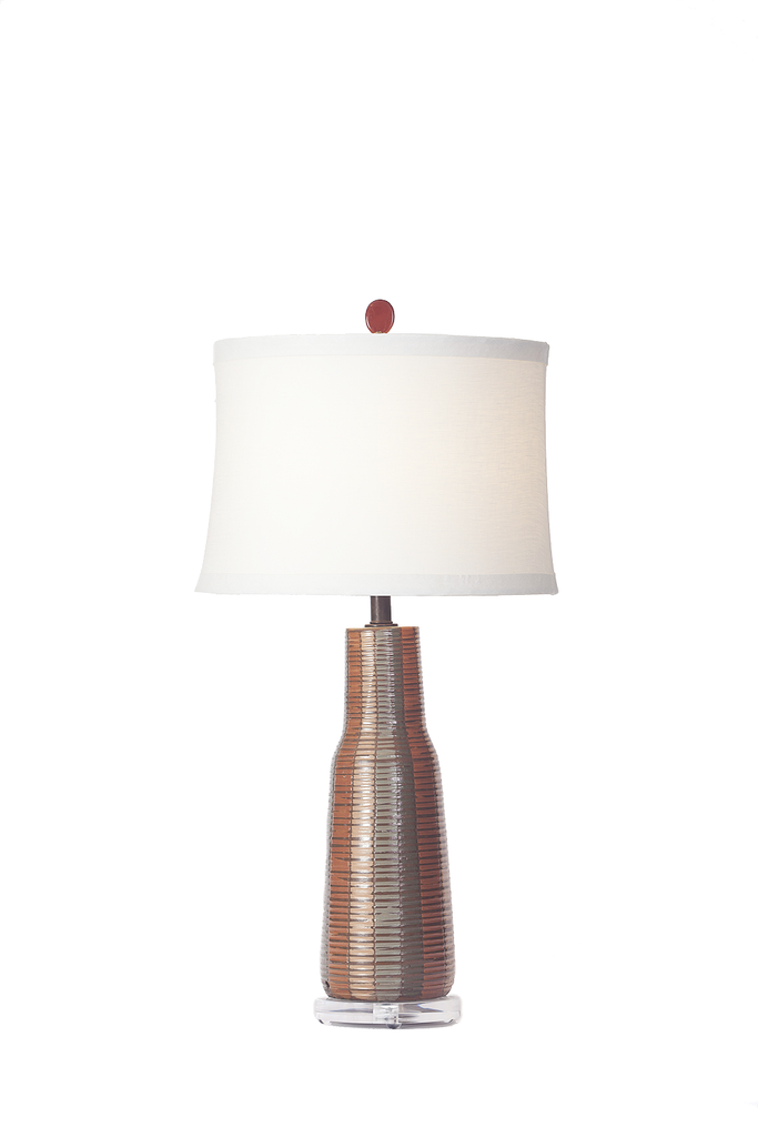 American Hand Incised | Glazed Lamp - GEORGE V COLLECTION, Table Lamp