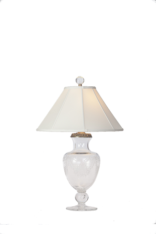Cut French Crystal Lamp