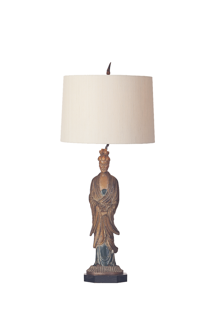 Hand Carved Chinese Woman Figure Lamp - GEORGE V COLLECTION, Table Lamp
