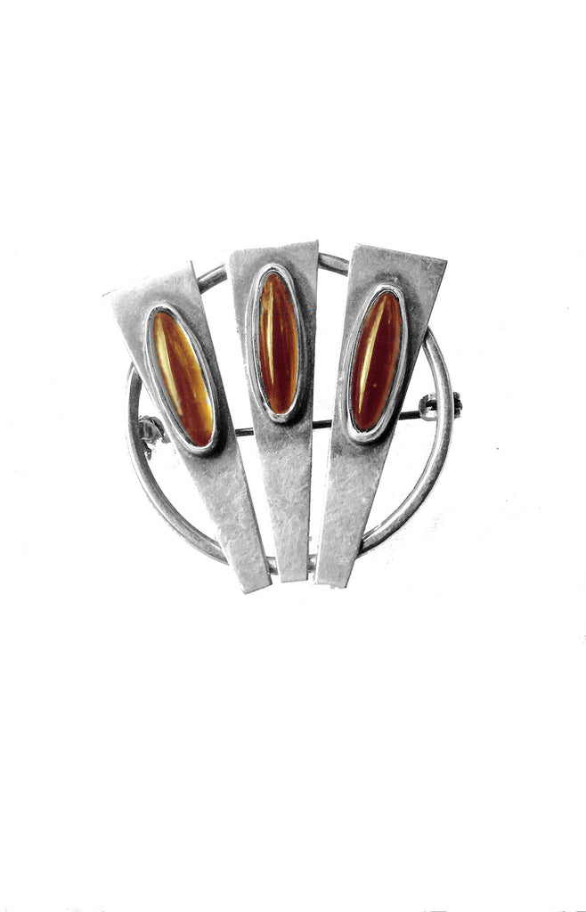 Modern Pin with Amber Hues - GEORGE V COLLECTION, Jewelry