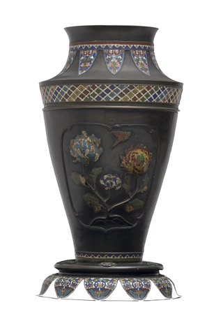 Colossal Bronze and Cloisonné Vase | Umbrella Stand |