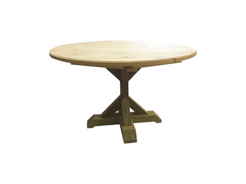 Round Counter Height Trestle Farm Table