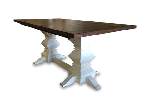 ... Weathered Fancy Farm Table ...