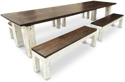 ... Kate Farm Table With Matching Benches ...