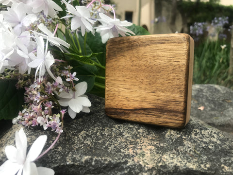 "The Black Limba Piccolo Box (~3.0"" x 3.0"" x 1.0"")"