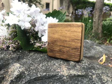 "The Black Limba Soprano Box (~3.5"" x 3.5"" x 1.0"")"