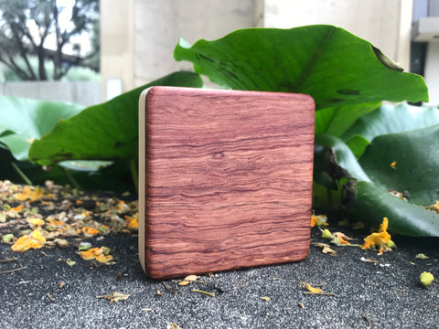 "The Highly Figured Bubinga Alto Box (~4.0"" x 4.0"" x 1.0"")"
