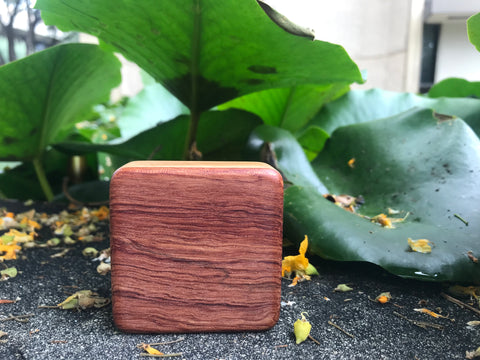 "The Highly Figured Bubinga Pixie Box (~2.5"" x 2.5"" x 1.0"")"