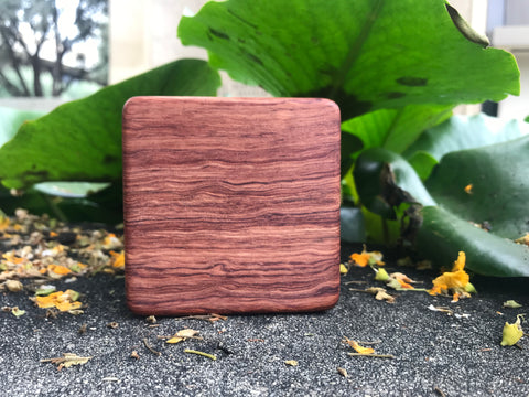 "The Highly Figured Bubinga Soprano Box (~3.5"" x 3.5"" x 1.0"")"