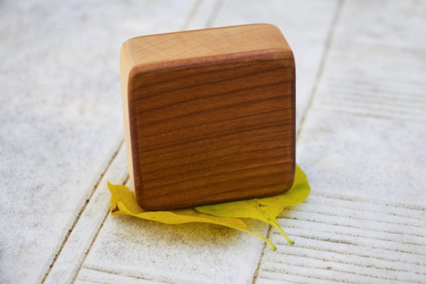 "Performer Series- Cherry Soprano Box Shaker (~3.5"" x 3.5"" x 1.0"")"