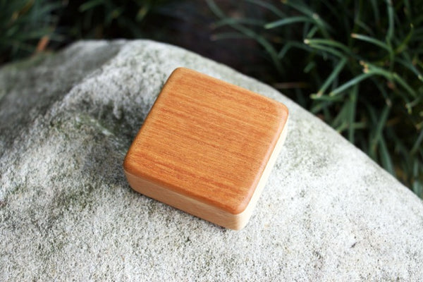"The Honduran Mahogany Pixie Box (~2.5"" x 2.5"" x 1.0"")"