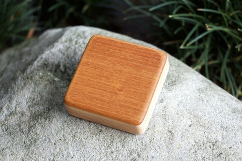 "The Honduran Mahogany Piccolo Box (~3.0"" x 3.0"" x 1.0"")"