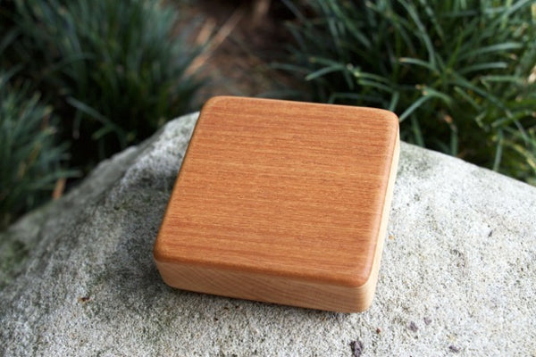 "The Honduran Mahogany Soprano Box (~3.5"" x 3.5"" x 1.0"")"