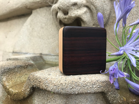 "Studio Pro Series- Indian Rosewood Piccolo Box (~3.0"" x 3.0"" x 1.0"")"
