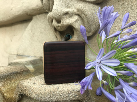 "The Indian Rosewood Pixie Box (~2.5"" x 2.5"" x 1.0"")"