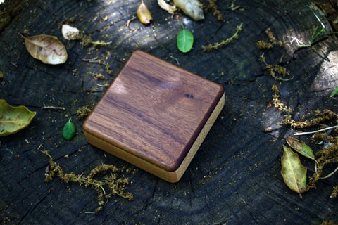 "The Walnut Soprano Box Shaker (~3.0"" x 3.0"" x 1.0"")"