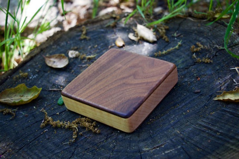 "The Walnut Alto Box Shaker (~4.0"" x 4.0"" x 1.0"")"