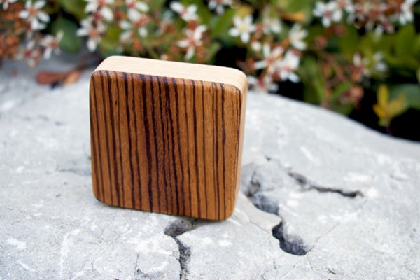 "The Zebra Piccolo Box Shaker (~3.0"" x 3.0"" x 1.0"")"