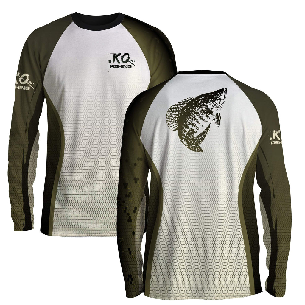 Crappie Fish Scale Shirt Series - Long Sleeve