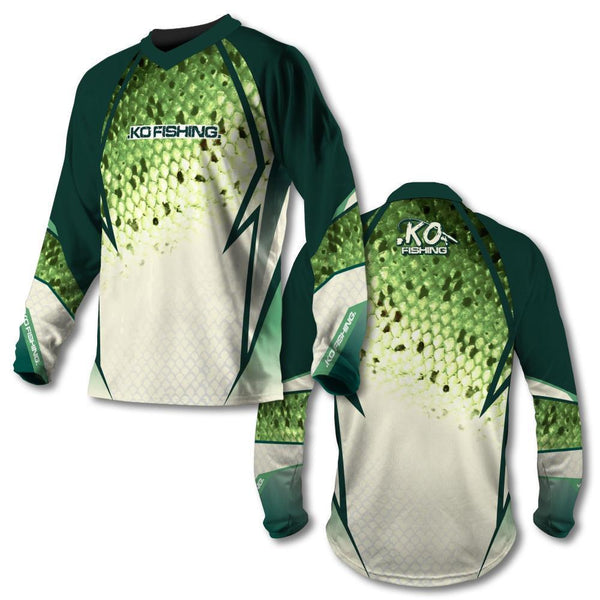 *Green Scale Vented Shirt Series - Long Sleeve Fishing Koss Outdoors
