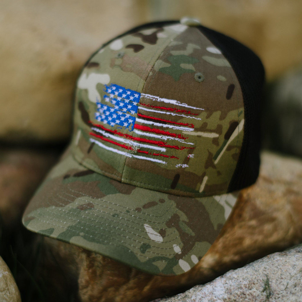 US Flag - MultiCam Flexfit Hat