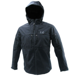 Tactical Hunting Softshell Hooded Jacket - Black Hunting Koss Outdoors