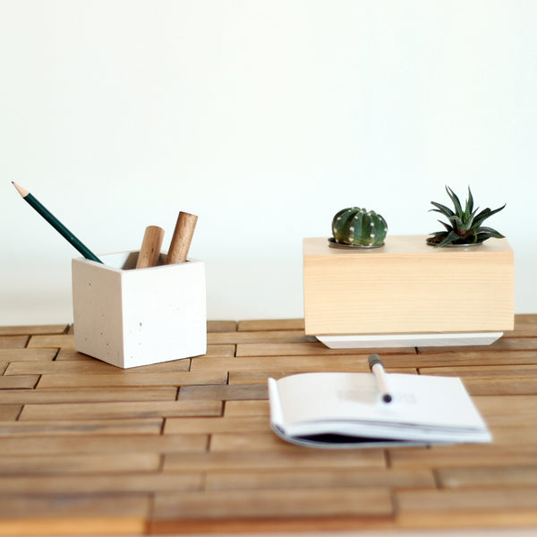 CUBO - Double hole succulent planter
