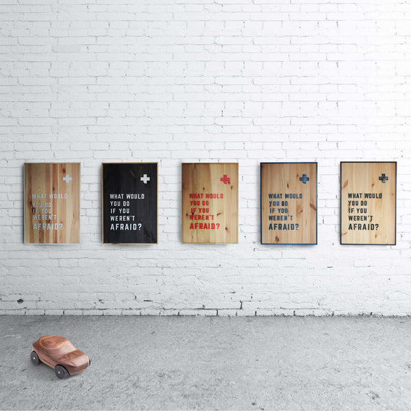 WHAT - Wooden wall art