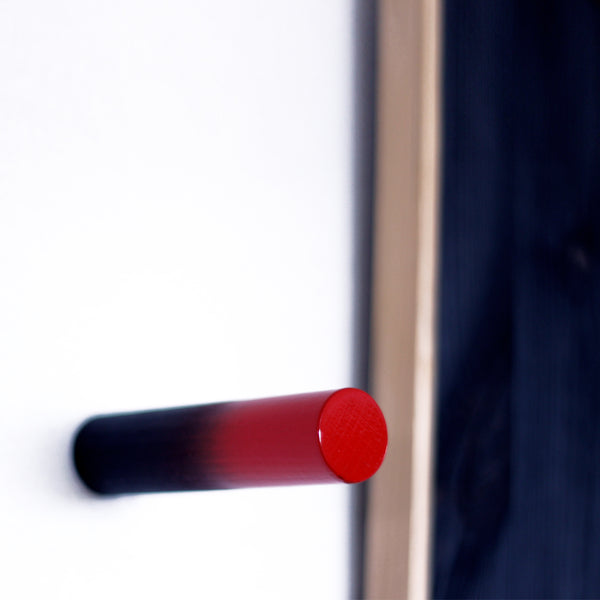 PEGY 02 - Dark wood wall hook with bold ombre