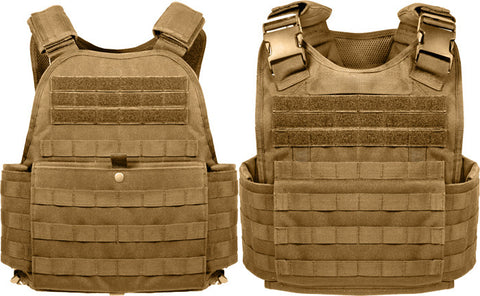 Tan Plate Carrier Vest