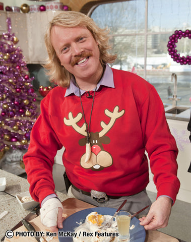 Keith Lemon in the Rudolph Christmas Sweatshirt