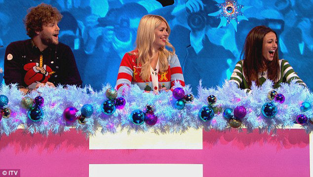 Holly Willoughby - Celebrity Juice Christmas Special 2015