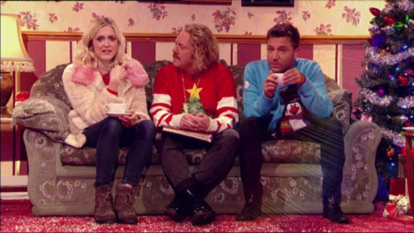 Keith Lemon wearing the Lighted Christmas Tree Jumper
