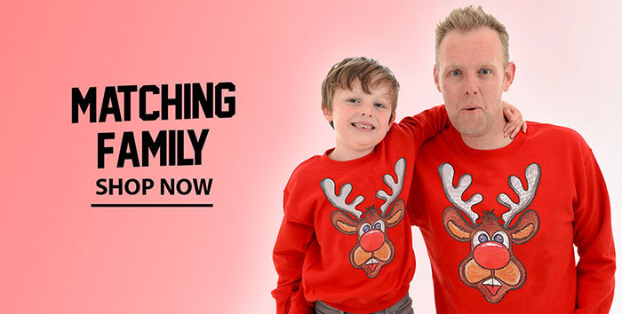 Matching family Christmas jumpers
