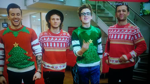 Mcfly in Cheesy Christmas Jumpers