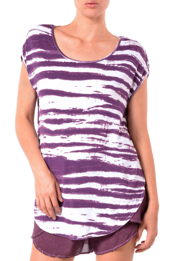 Side Slit Modal Stripe Tunic